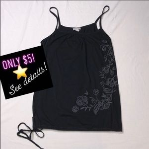 ⭐️ Loose Fitting Graphic Tank with Tie